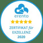 erento Zertifikat für Exzellenz 2020